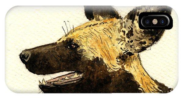 Wild Life iPhone Case - Wild Dog Lycaon by Juan  Bosco