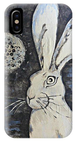 Wild Eyed Hare Phone Case by Laura Heilman