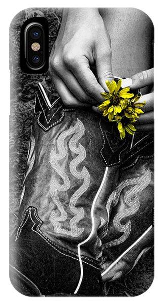 Wild Flower Boots IPhone Case