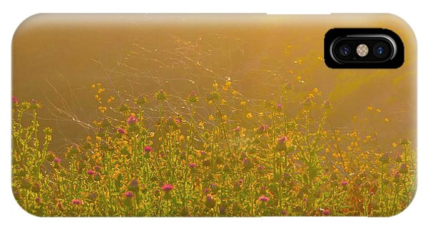 Wild Flowers With Webs IPhone Case