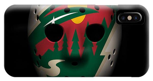 Puck iPhone Case - Wild Goalie Mask by Joe Hamilton