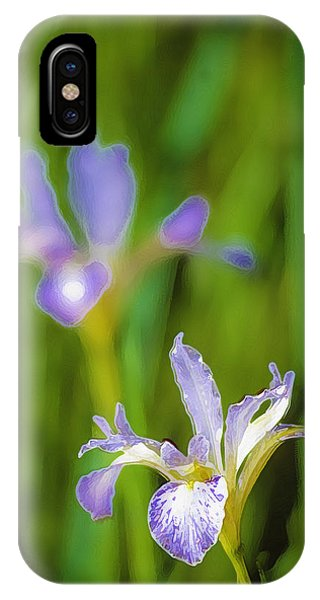 IPhone Case featuring the photograph Wild Iris 2 by Sherri Meyer