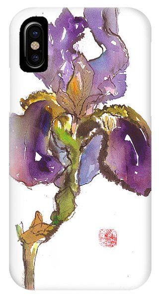 Wild Iris Phone Case by Gwen Nichols