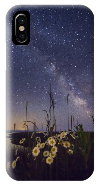 Wild Marguerites Under The Milky Way IPhone Case