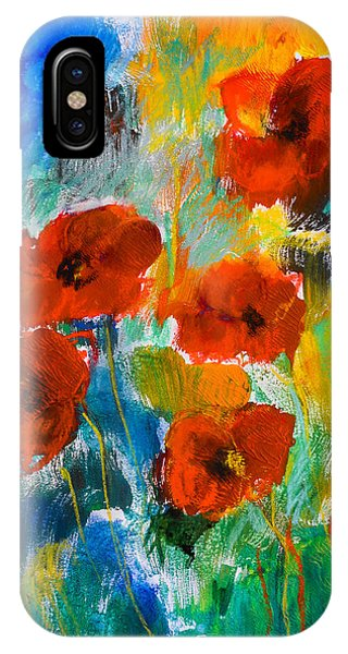 Fauvism iPhone Case - Wild Poppies by Elise Palmigiani