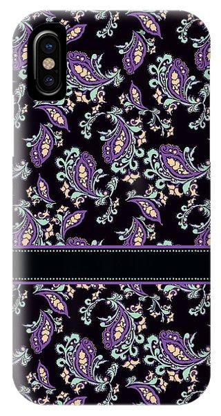 Violet iPhone Case - Wild Purple Paisley by Jenny Armitage