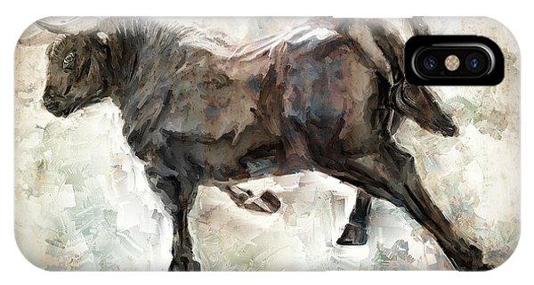 Minotaur iPhone Case - Wild Raging Bull by Daniel Hagerman