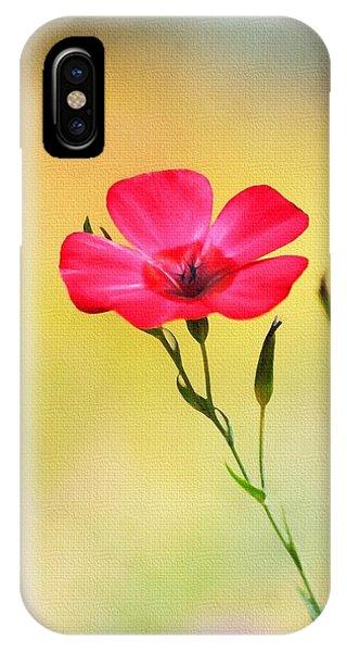Wild Red Flower IPhone Case