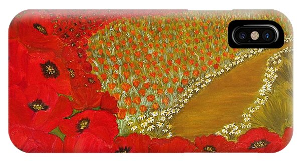 Wild Red Poppies IPhone Case