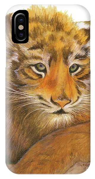 Wild Tiger Cub IPhone Case