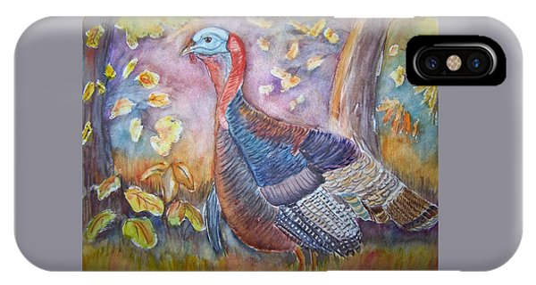 Wild Turkey In The Brush IPhone Case
