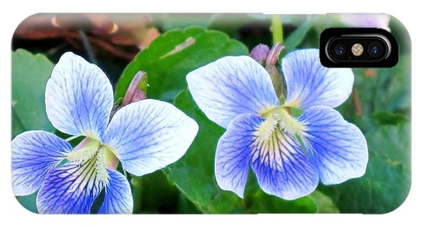 Wild Violets IPhone Case