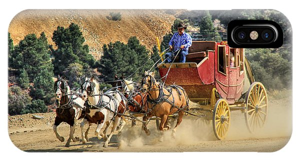 Wagon Wheel iPhone Case - Wild West Ride 2 by Donna Kennedy