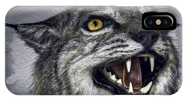 Lynx iPhone Case - Wildcat Ferocity by Daniel Hagerman