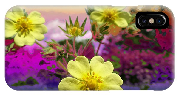 Wildflower Abstract IPhone Case