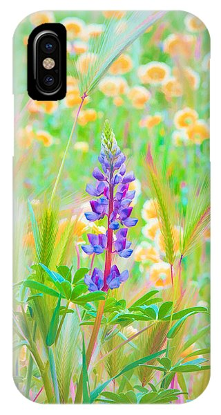 Wildflower Meadow - Spring In Central California IPhone Case