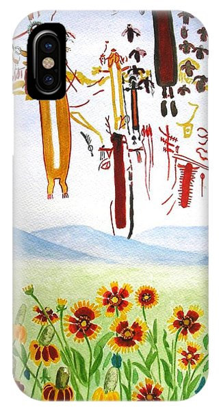 Wildflowers And Rock Art At Halo Shelter  IPhone Case