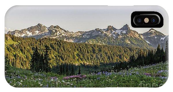 Wildflowers And The Tatoosh Range IPhone Case