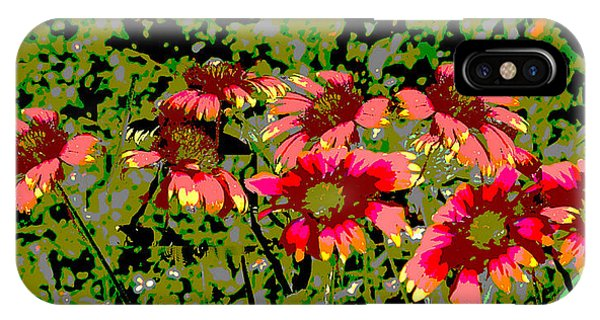 IPhone Case featuring the painting Wildflowers IIi Florida Contemporayary Digital Art by G Linsenmayer
