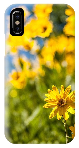 Teton iPhone Case - Wildflowers Standing Out Abstract by Chad Dutson