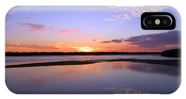 Wildlife Drive Sunset IPhone Case