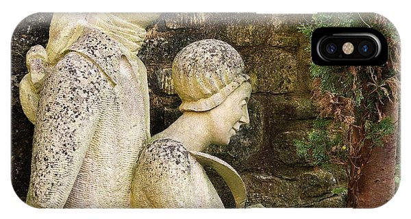 William And Caroline Herschel Sculpture IPhone Case