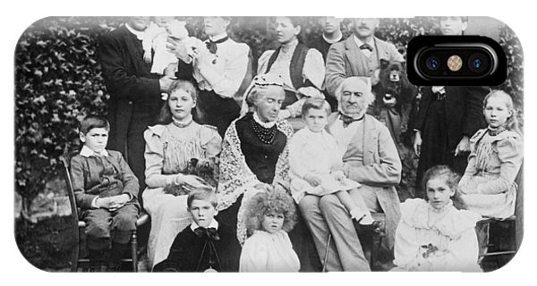 Prime Minister iPhone Case - William Gladstone With Family by Underwood Archives