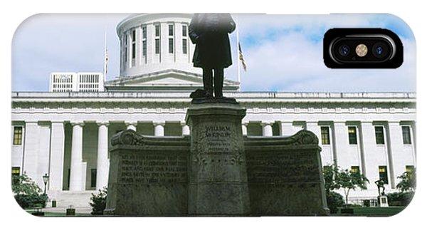 Capitol Building iPhone Case - William Mckinley Statue, Ohio by Panoramic Images
