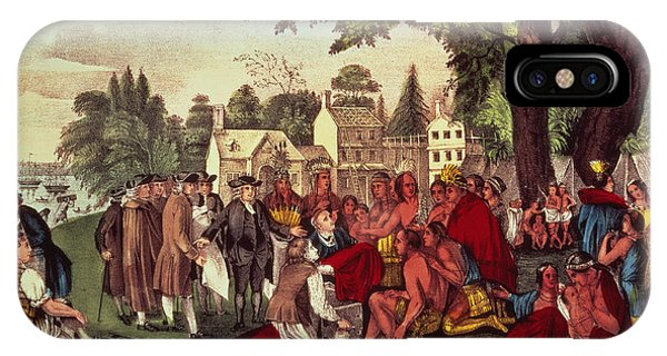 William Penn's Treaty With The Indians IPhone Case