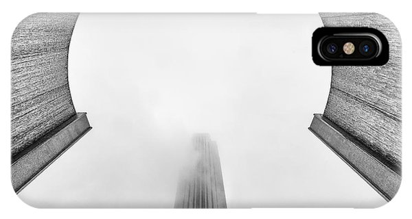 Williams Tower Through The Fog At The Water Wall  Phone Case by Dee Zunker