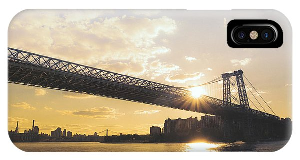 City Sunset iPhone Case - Williamsburg Bridge - Sunset - New York City by Vivienne Gucwa