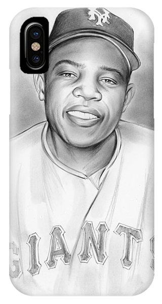 Hero iPhone Case - Willie Mays by Greg Joens