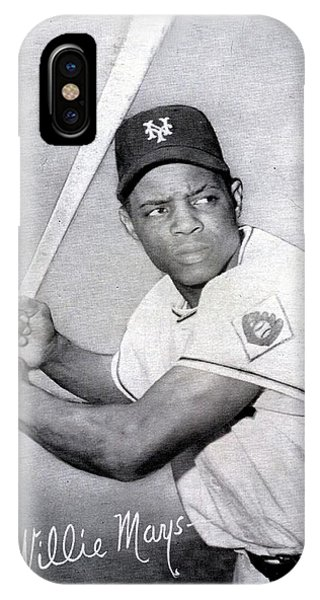 New York Mets iPhone Case - Willie Mays  Poster by Gianfranco Weiss