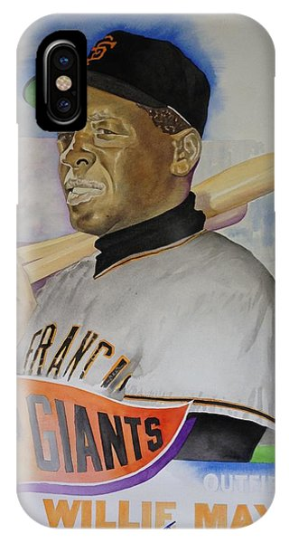 Willie Mays Phone Case by Robert  Myers