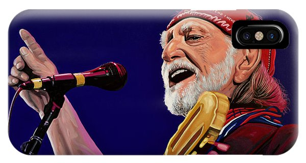 Again iPhone Case - Willie Nelson by Paul Meijering