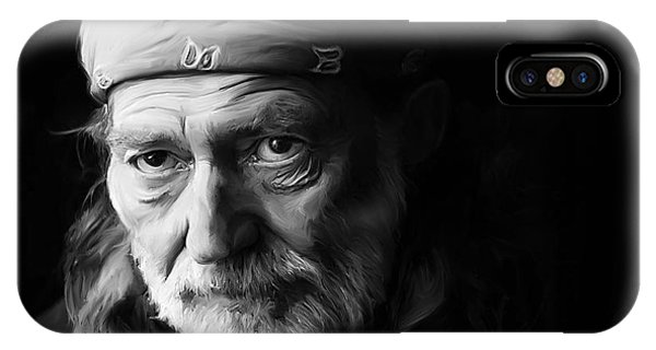 University iPhone Case - Willie Nelson by Paul Tagliamonte