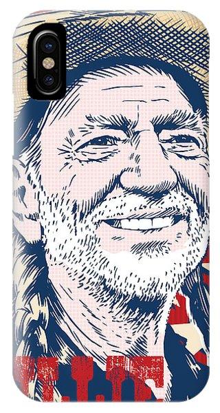 Country iPhone Case - Willie Nelson Pop Art by Jim Zahniser