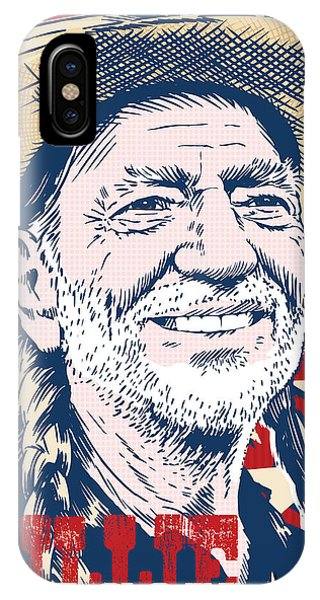 Johnny Cash iPhone Case - Willie Nelson Pop Art by Jim Zahniser
