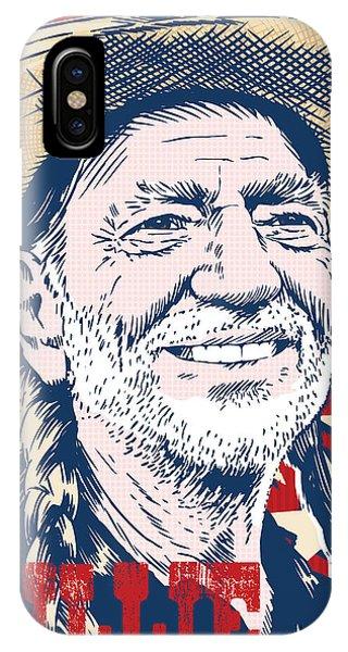 Head iPhone Case - Willie Nelson Pop Art by Jim Zahniser