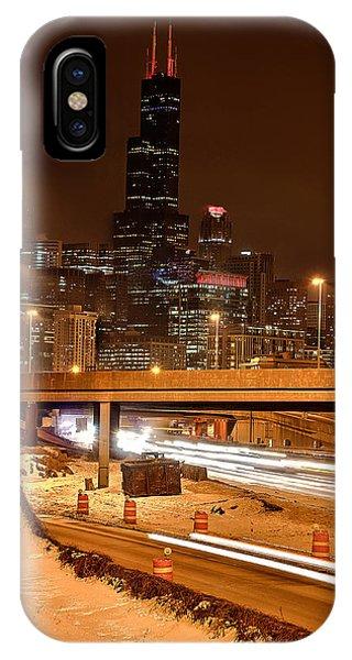 Willis Tower Chicago Winter 2014 Phone Case by Michael  Bennett