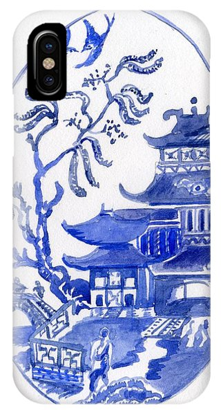 Willow Pattern Egg I IPhone Case