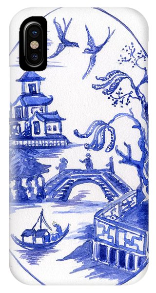 Willow Pattern Egg II IPhone Case