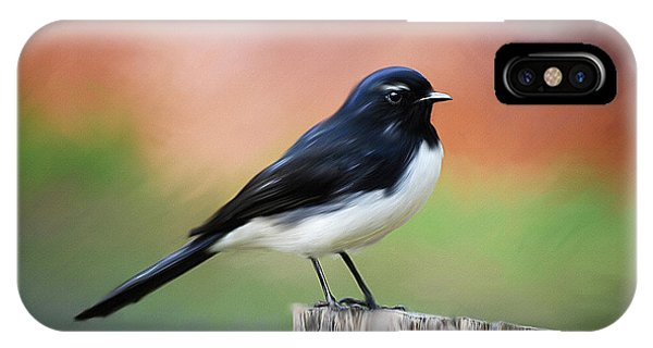 Willy Wagtail Austalian Bird Painting IPhone Case