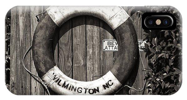 Wilmington Life Preserver Mono IPhone Case