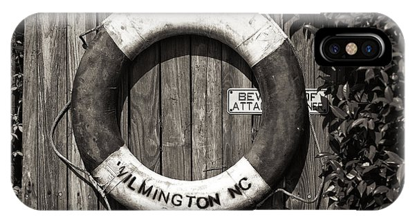 Wilmington Life Preserver Mono IPhone Case