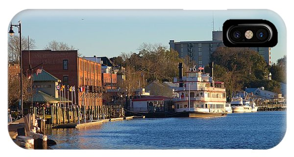 Wilmington River Front At Sunset January 2014 IPhone Case