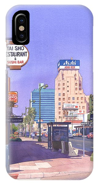 Wilshire Blvd At Mansfield IPhone Case