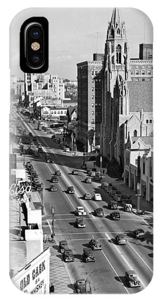 Wilshire Boulevard In La IPhone Case