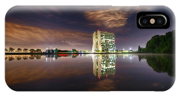 Treeline iPhone Case - Wilson Hall At Fermilab At Night by Fermi National Accelerator Laboratory/us Department Of Energy/science Photo Library