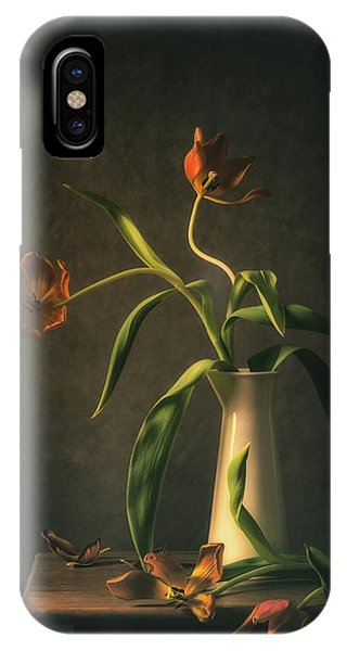 Petals iPhone Case - Wilted Tulips by Monique Van Velzen